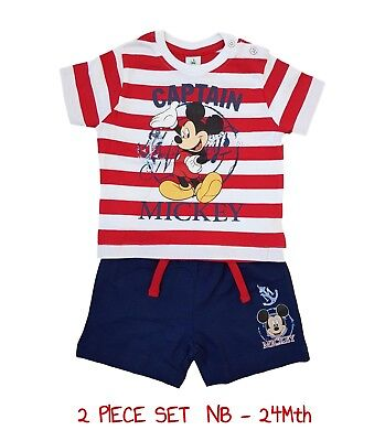 Baby Boys Mickey Mouse Outfit Set Top Shorts Disney pjs pj Short Sleeve Summer