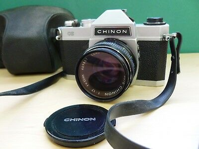 Chinon CS Camera & 55mm F1.7 M42 Screw-Mount Lens Case and Strap #Y437