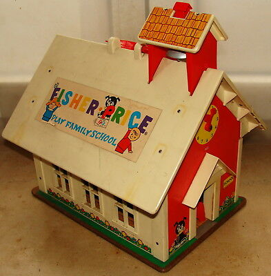 "Puppenhaus «Schule"" FISCNER PRICE  PLAY FAMILYSCHOOL USA 1971"
