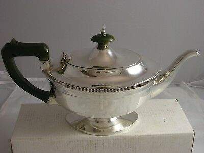 1934 QUALITY ART DECO SILVER Beautiful Teapot 607 grams James Tiptaft unusual