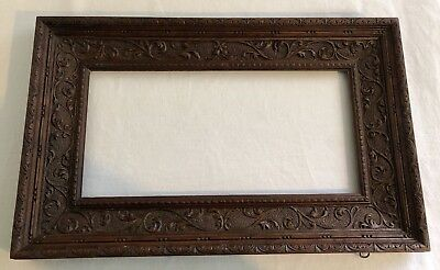 Quality Antique 19thC. Carved Wood Acanthus Leaf Picture Frame