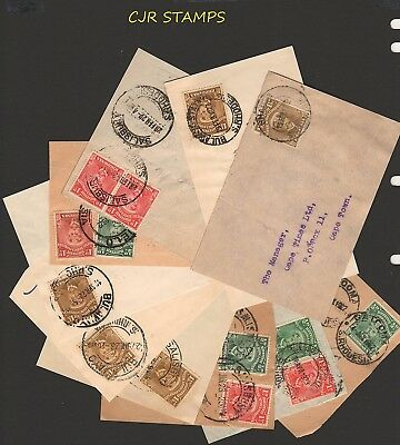 Rhodesia 1913   -   Group Of 10 Admirals  On Piece  -   Addressed  Cape Times