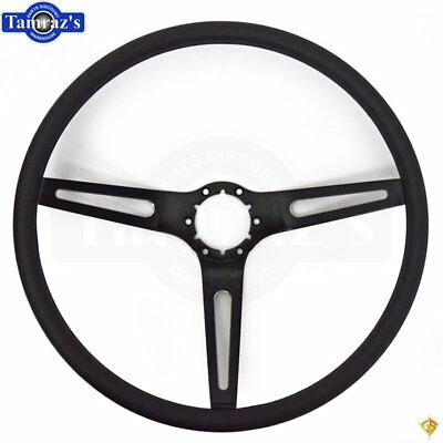 Chevelle Nova Camaro Impala Steering Wheel Black 3 Spoke w/ Black Comfort Grip