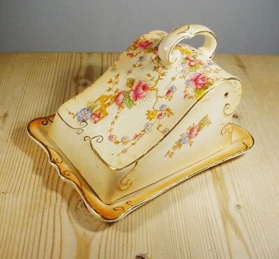 "Crown Devon ""May"" Blushware Cheese Dish"