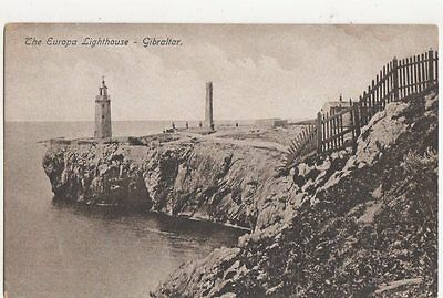 The Europa Lighthouse Gibraltar Vintage Postcard 321a