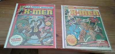 2 X-Men British rampage magazines,Marvel Comics, ,bagged  and boarded