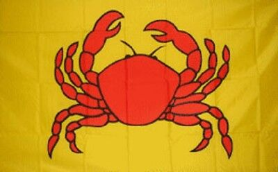 Crab Flag Restaurant Banner Advertising Pennant Food Crabs Sign New 3x5 Foot New