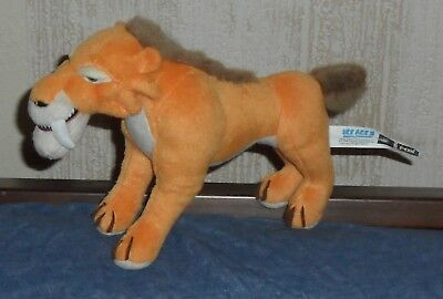 Ice Age 3 2009 PMS Sabre Tooth Tiger Diego Plush Soft Toy Collectable Animal