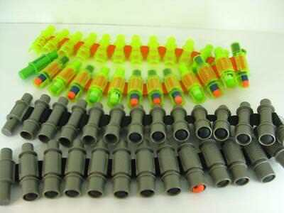 Lot Of 2 Nerf Vulcan Dart Gun Ammo Belts Green & Grey With 35 Darts
