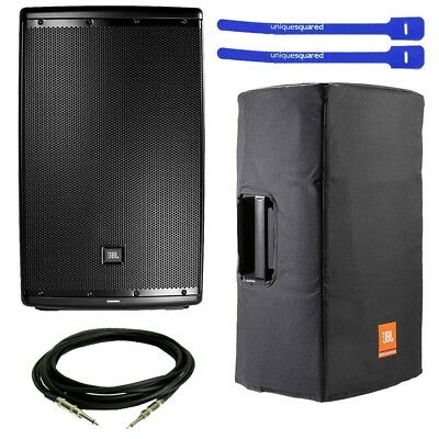 """JBL EON615 2-Way 15"""" Powered Speaker w/ Speaker Cover, XLR Cable and Cable Ties"""
