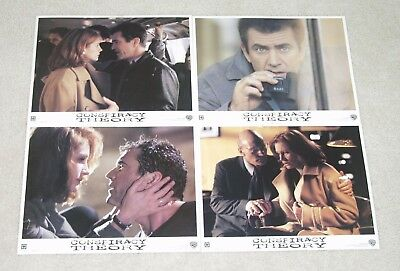CONSPIRACY THEORY  Mel Gibson - Julia Roberts - Lot of 4 1997 Lobby Cards