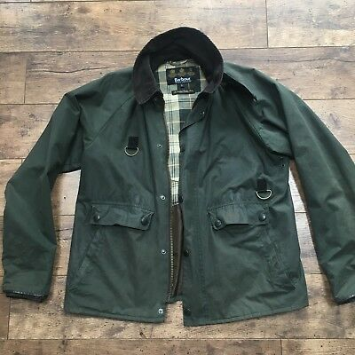 Men's Barbour Standen Olive Wax Jacket Size Large