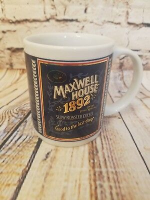 "1892 Maxwell House ""Good to the Last Drop"" Coffee Mug 8 oz. Porcelain"