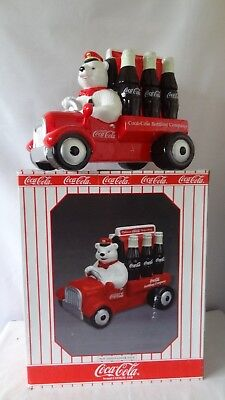 Cavanagh 1999 Delivery Truck Coca Cola Bear Six Pack Cookie Jar MIB #K114.