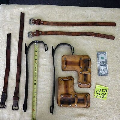 """Buckingham 16 1/2"""" pole climbing linemans gaff, spikes, or spurs with 17* twist"""