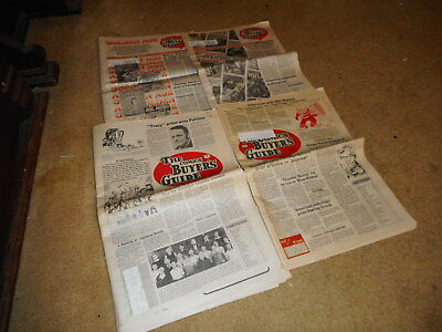 LOT OF 1980s COMIC BUYERS GUIDE newspaper magazines