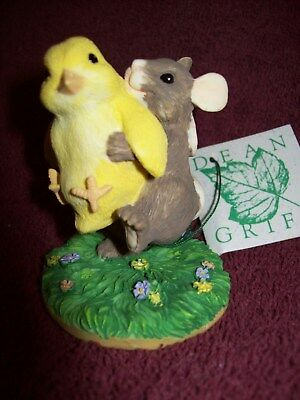 "Charming Tails DEAN GRIFF ""MOUSE & CHICK"" Figurine SIGNED 1995 #1280/2500 LTD ED"