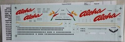 1/200 Liveries Unlimited Aloha Boeing 737-200/-300/-400 Decal