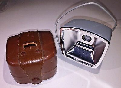 Zeiss Ikon Ikoblitz L bulb flashgun with snc lead and case from 1950s - lovely