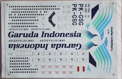 Liveries Unlimited Decal 1/144 Garuda Boeing 747s Decal