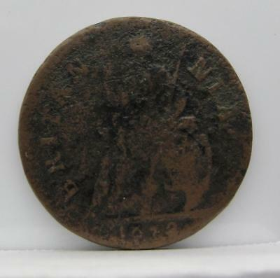 Great Britain 1672 Farthing! Very Good! Km# 436.1! Really Nice Old Type Coin!