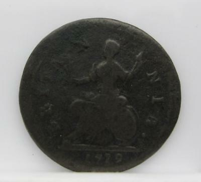 Great Britain 1719 Farthing! Very Good! Km# 556! Really Nice Old Type Coin!