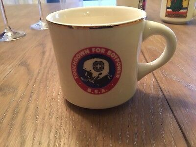 TOUCHDOWN FOR BOYPOWER Ceramic Coffee Cup Mug BOY SCOUTS OF AMERICA BSA