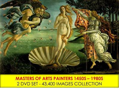 43,469 OLD PAINTINGS & RENAISSANCE PAINTERS Pictures 2 DVD Antique Art Abstract
