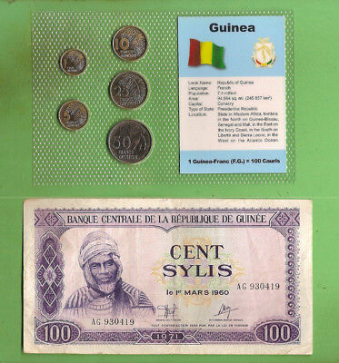 #D389.  Coins & Banknote From Guinea, Africa