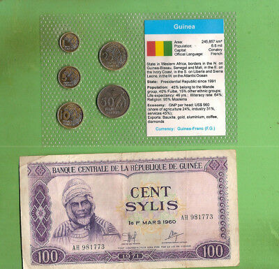 #D388.  Coins & Banknote From Guinea, Africa