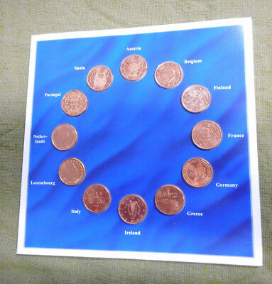 #C12. Collection Of Twelve  Europe 5 Cent Coins