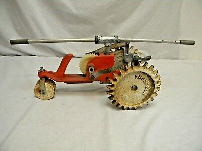 Vintage Thompson USA Walking Traveling Lawn Sprinkler Cast Iron Rain Train Works
