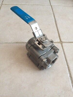 """1.1/2"""" Bsp STAINLESS STEEL LEVER BALL VALVE 3 PIECE  NEW Series 88R"""