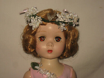 "1950's Madame Alexander 18"" Hard Plastic Brown Eyes Maggie Face Walker Doll MB20"