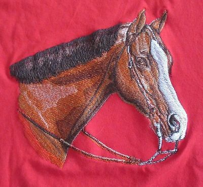 Embroidered Ladies Short-Sleeved T-Shirt - Western Pleasure Horse BT2341