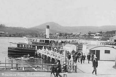 Tasmania BELLERIVE FERRY ss DERWENT circa 1911-15 modern digital Photo Postcard