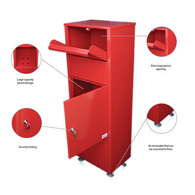 12 METZ Large Red Letter Box Post Box Mail Letterbox Drop tall PARCEL Box