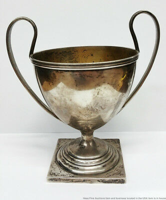 Vintage Bailey Banks Biddle Sterling Silver Two Handle Urn Vase Trophy 6.7ozt