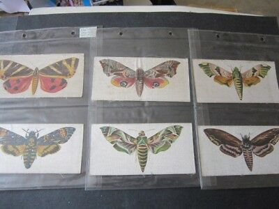 1924 R J Lea Butterflies and Moths complete set of 6 Large Size