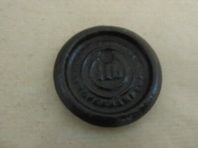 ANTIQUE 1/2 lb CAST IRON CRANE FOUNDRY SCALE WEIGHT 2.7 inches