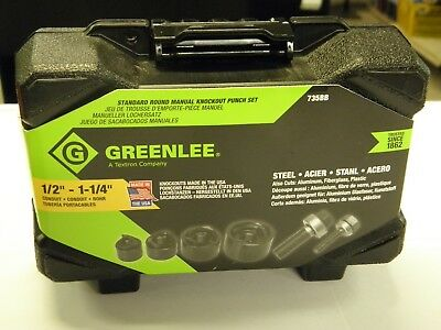 Greenlee 735BB Knock Out Punch Set Nice NEW In Package NIP