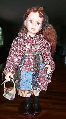 """Vanessa Porcelain Doll • """"The Collector's Dreamis"""" • 20"""" Tall • Excellent Cond"""