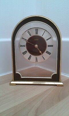 Acctim Arch Style Used Carriage Clock In Solid Brass With A Brushed Finish