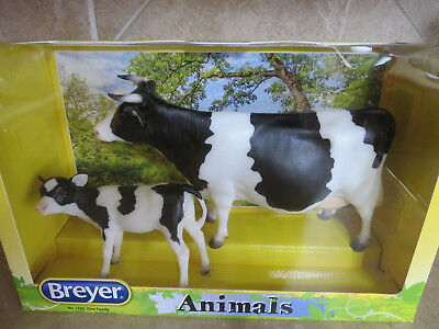New in Box Breyer Cow family retired #1732 milk cows calf cattle holstein NRFB