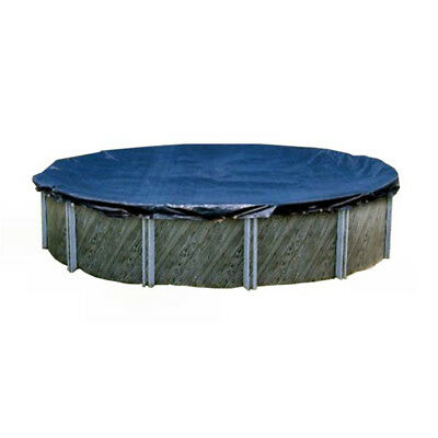 Swimline 28 Foot Round Above Ground Winter Pool Cover, Blue + Tools | PCO831