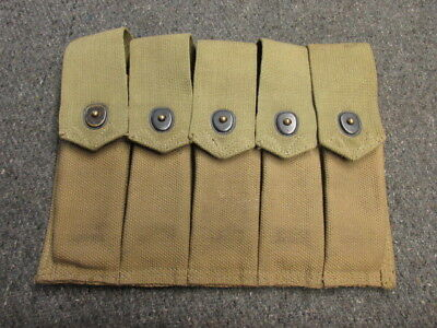 Wwii Us Gi Thompson Smg Magazine Pouch-Excellent-American Leather Goods 1942