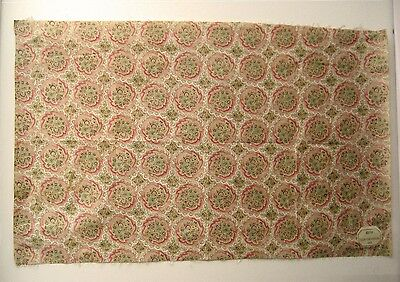 Antique Beautiful 19th C. French Paisley Cotton Print Fabric (9423)