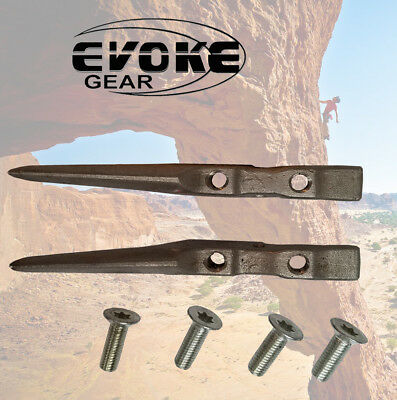 Replacement Gaffs For Tree Climbing Spikes / Spurs Set With Screws Evoke Gear