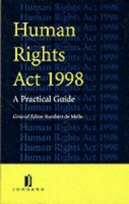 The Human Rights Act, 1998 by Mellor, D. Paperback Book The Cheap Fast Free Post