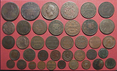Lot Of (39) World Copper Coins! Variety Of Countries, States And Colonies!